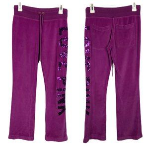 Victorias Secret Love PINK Pants Bling Magenta XS